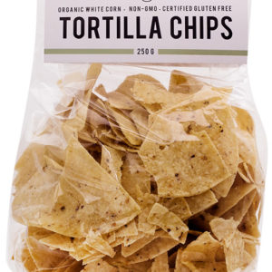El Burro Organic White Corn Chips <strong> 250 g </strong>